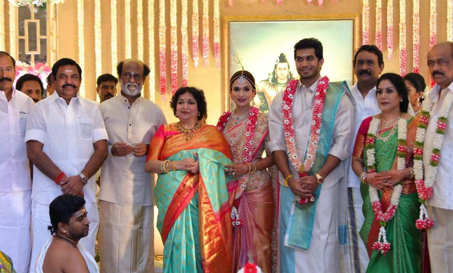 Soundarya Rajinikanth marries Vishagan Vanangamudi