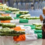Modi paying last respects to CRPF Jawans