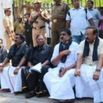 Puducherry CM Narayanasamy Protest