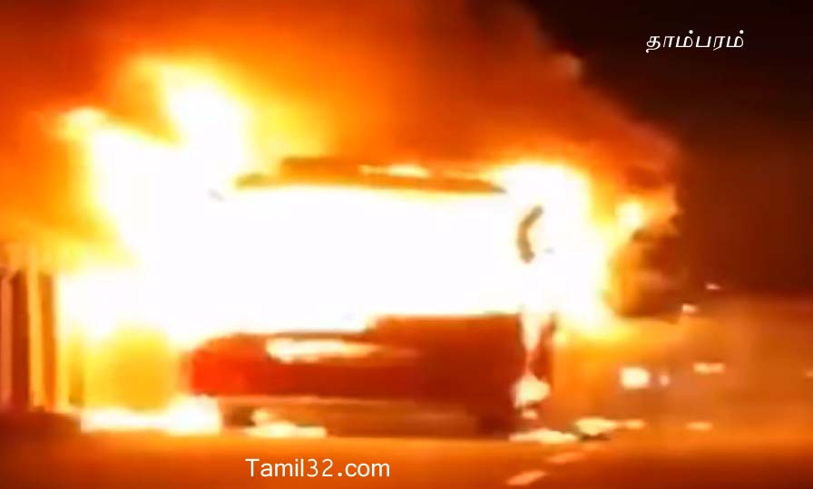 Omni Bus Fire accident in Tambaram