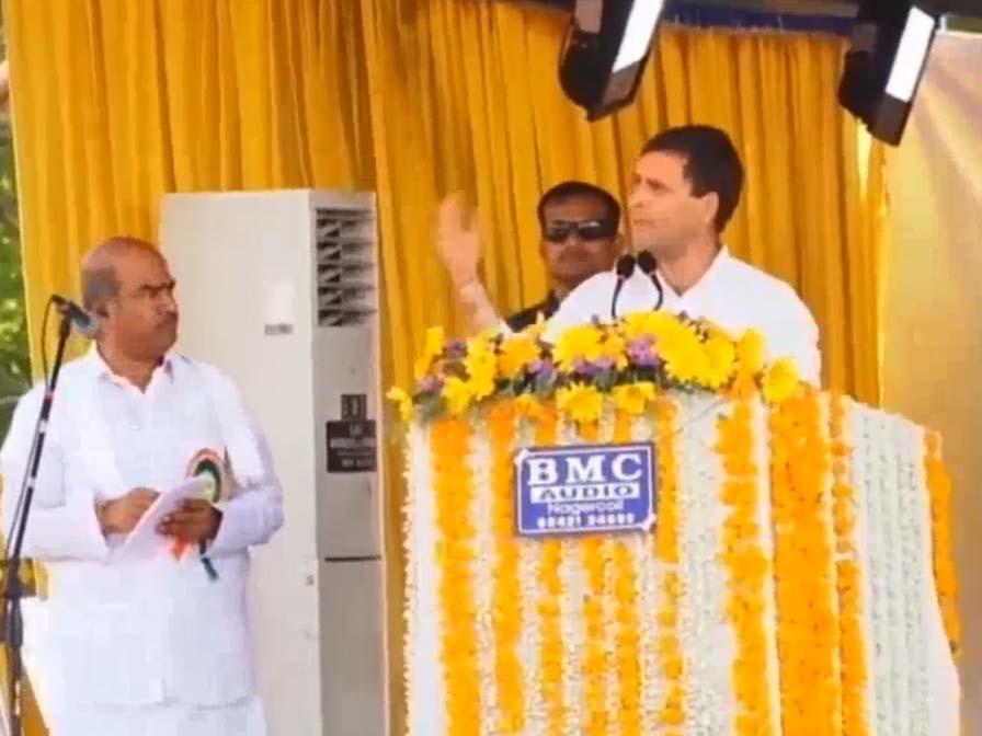 modi is talking lie slams rahul