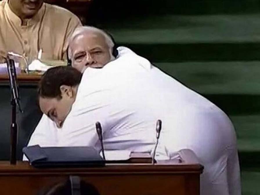Rahul Gandhi explains why he hugged PM Modi in parliament