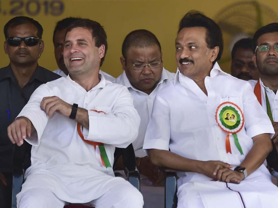 M K Stalin the next CM says Rahul Gandhi